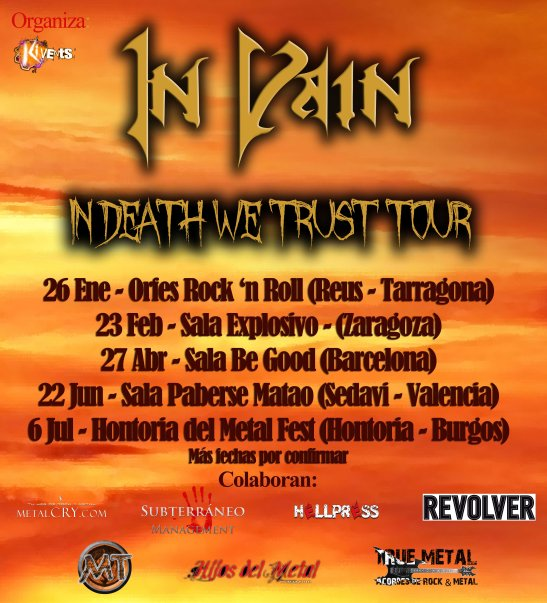 In Vain - In Death We Trust Tour 2013