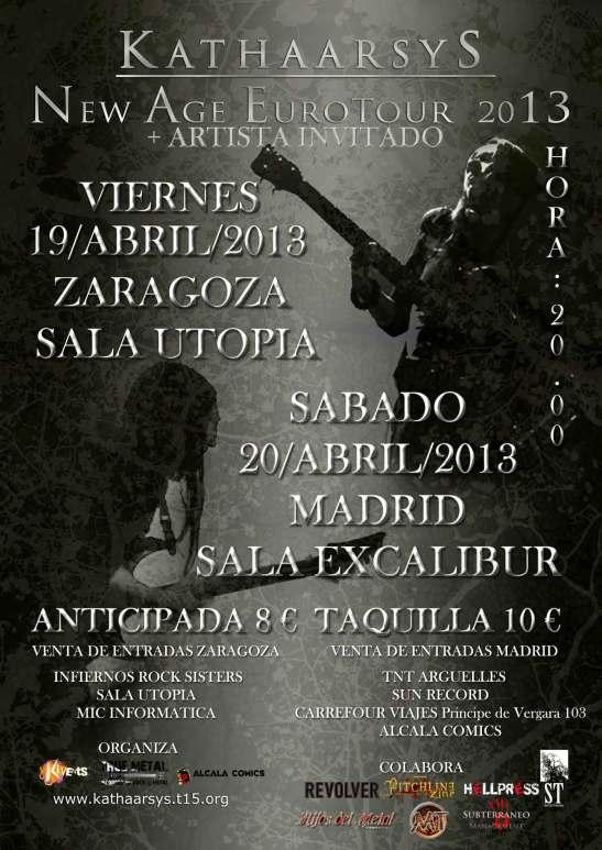Kathaarsys en Zaragoza y Madrid