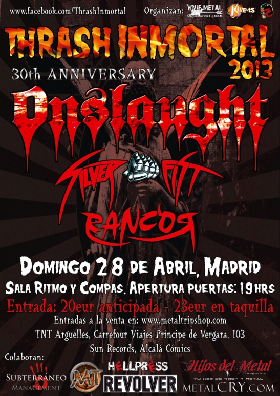 Thrash Inmortal 2013 Madrid