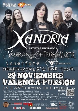 Xandria en Valencia