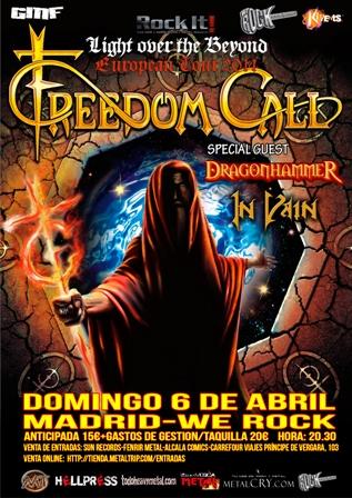Freedom Call en Madrid