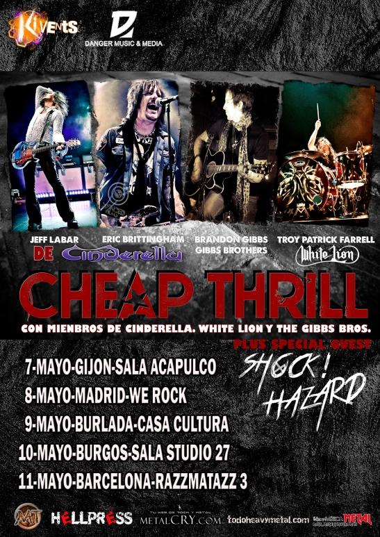 Gira española Cheap Thrill
