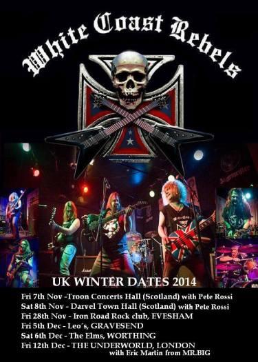 White Coast Rebels de gira por Reino Unido y Escocia