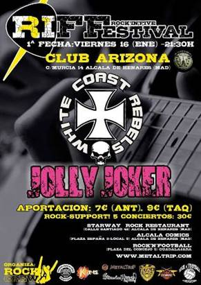 White Coast Rebels y Jolly Joker en Alcalá de Henares