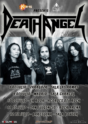 Death Angel Spain Tour