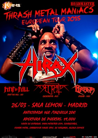 Hirax en Madrid