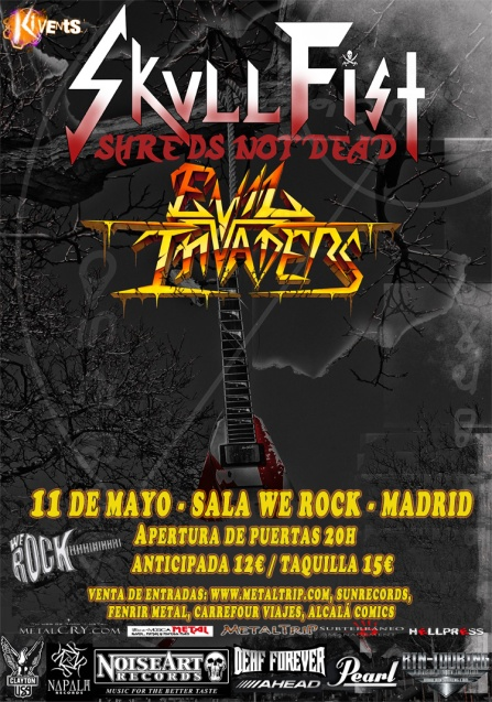 Skull Fist y Evil Invaders en Madrid