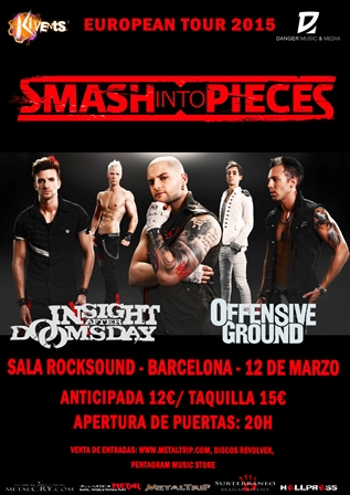 Smash Into Pieces en Barcelona