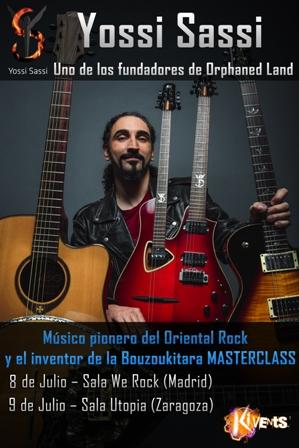 Yossi Sassi Masterclasses Zazagoza y Madrid