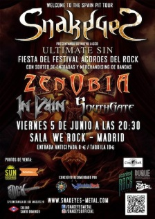In Vain con Snake Eyes y Zenobia Madrid