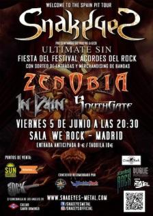 In Vain con Snake Eyes y Zenobia Madrid