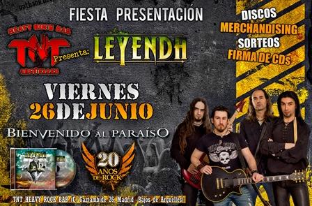 """Fiesta presentación del quinto álbum de LEYENDA """"Bienvenido al Paraíso"""""""