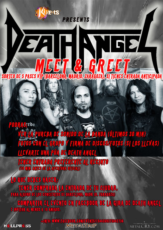 Death Angel M&G rojo