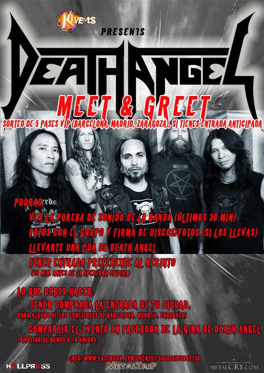 Death Angel M&G rojo