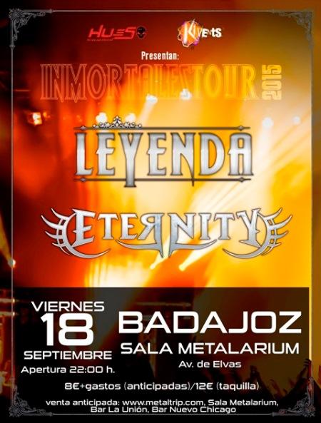 LEYENDA y Eternity en Badajoz