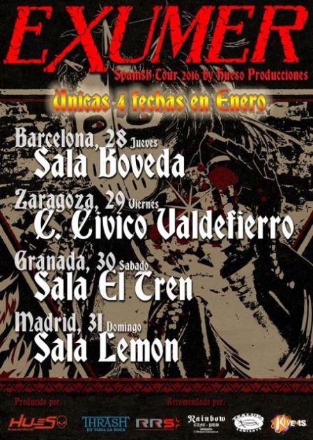 Exumer Spanish Tour