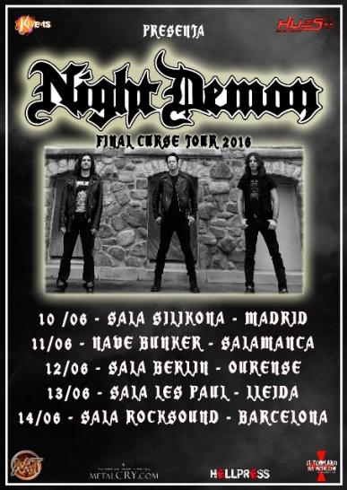Night Demon - Spanish Tour