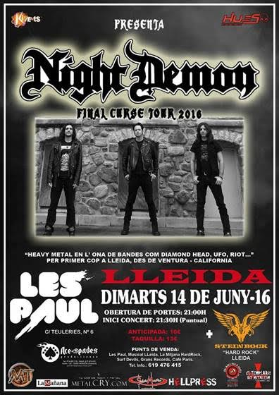 Night Demon en Lleida