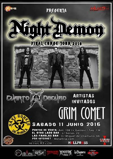 Night Demon en Salamanca