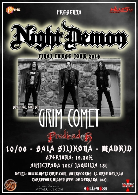Night Demon en Madrid