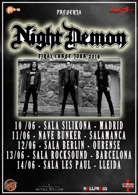 Night Demon Spanish Tour