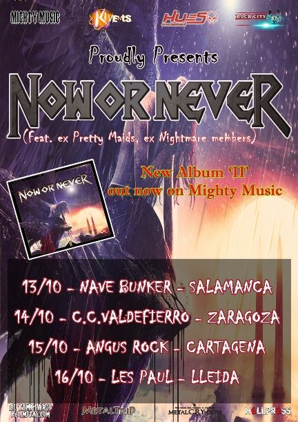 Now or Never Spanish Tour