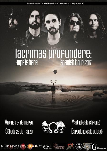 Lacrimas Profundere en Madrid y Barcelona