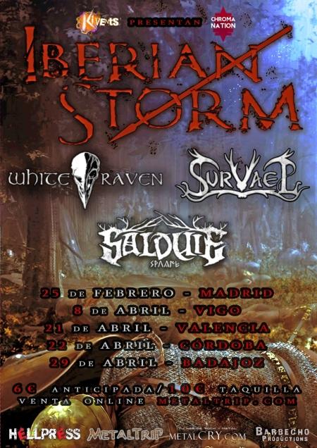 Iberian Storm 2017: Salduie, Survael y White Raven