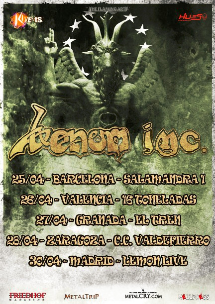 Venom INC Spanish Tour
