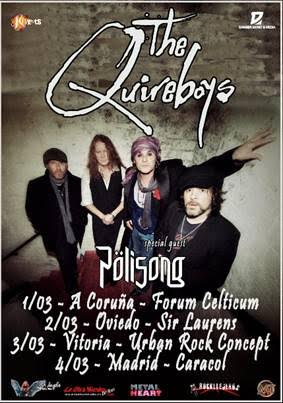 The Quireboys Tour Marzo 2018