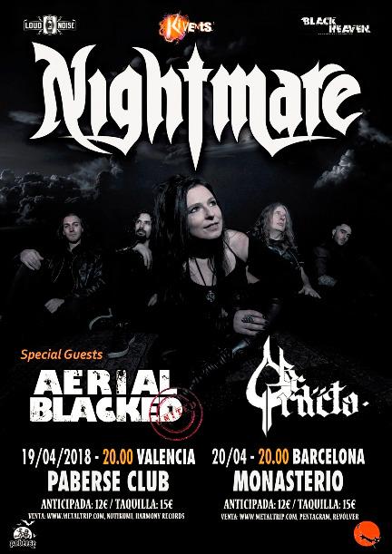 Nightmare en Valencia y Barcelona