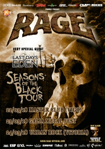 Rage - Seasons Of The Black Tour 2018