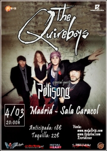 The Quireboys en Madrid