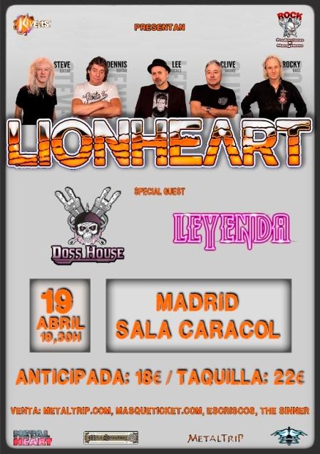 Lionheart en Madrid
