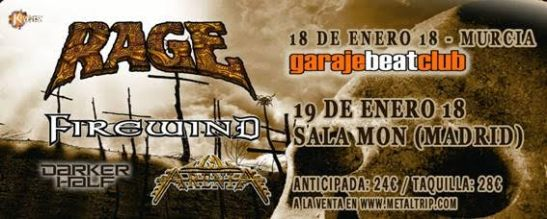 Rage y Firewind Tour