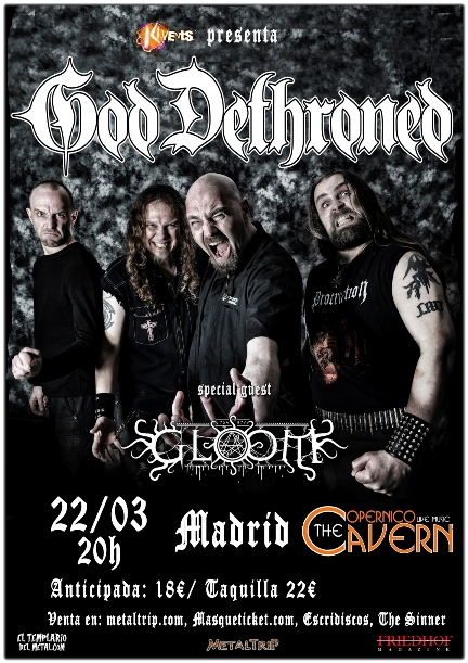 God Dethroned en Madrid The Copernico Cavern