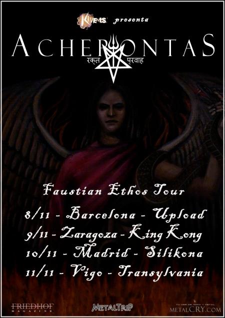 """Acherontas - """"Faustian Ethos Tour"""""""
