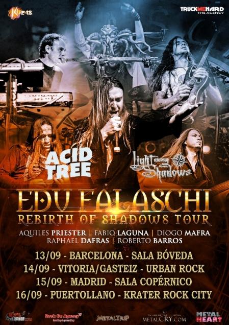 """Edu Falaschi – """"Rebirth of Shadows Tour"""" en España"""