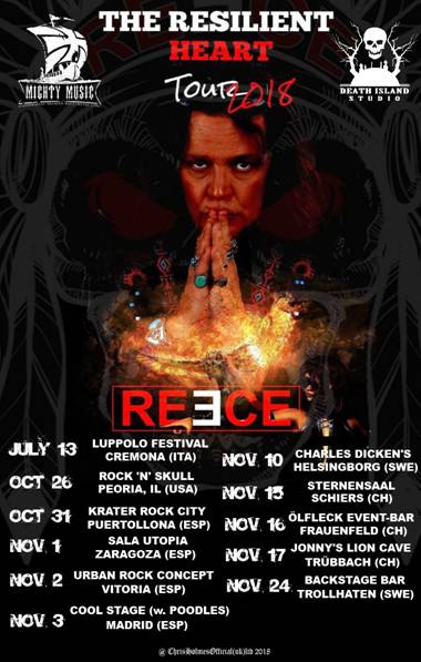 David Reece European Tour 2018