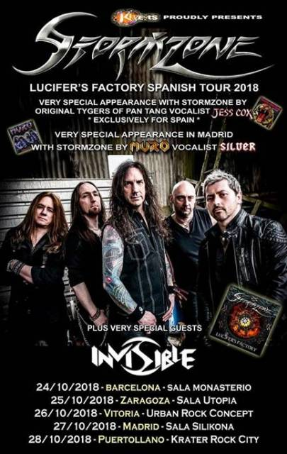 "Stormzone - ""Lucifer's Factory Spanish Tour"""