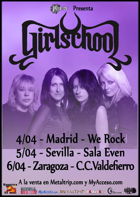 Girlschool - 40th Aniversay Tour
