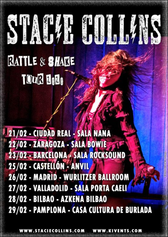 "Stacie Collins - ""Rattle & Shake World Tour 2020"""