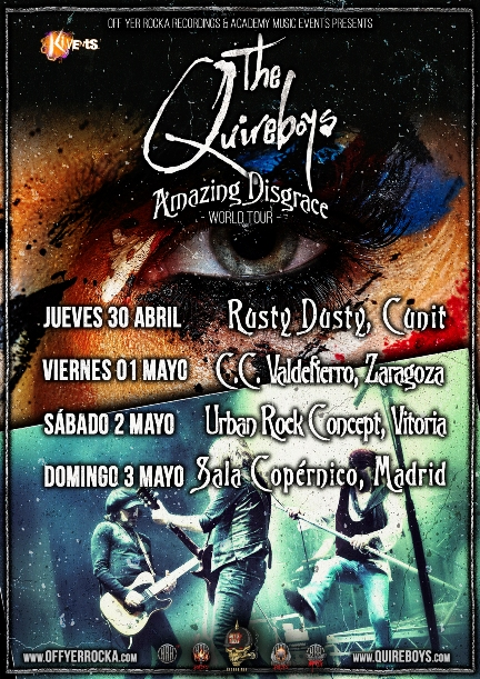 "The Quireboys - ""Amazing Disgrace Tour"""