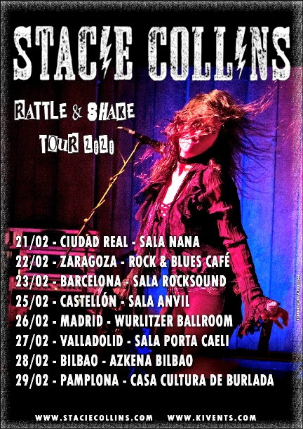 "Stacie Collins - ""Rattle & Shake European Tour 2020"""