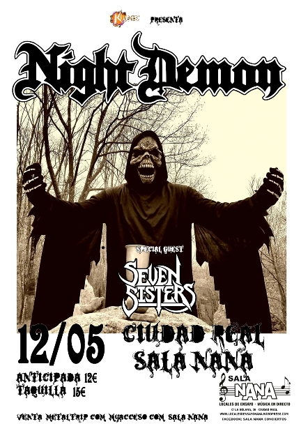 Night Demon en Ciudad Real