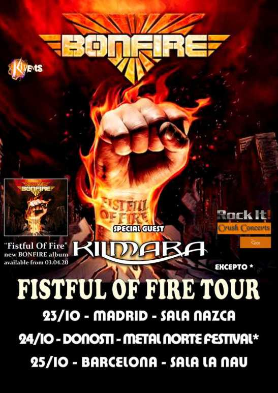 """Bonfire - """"Fistful Of Fire Tour 2020"""""""
